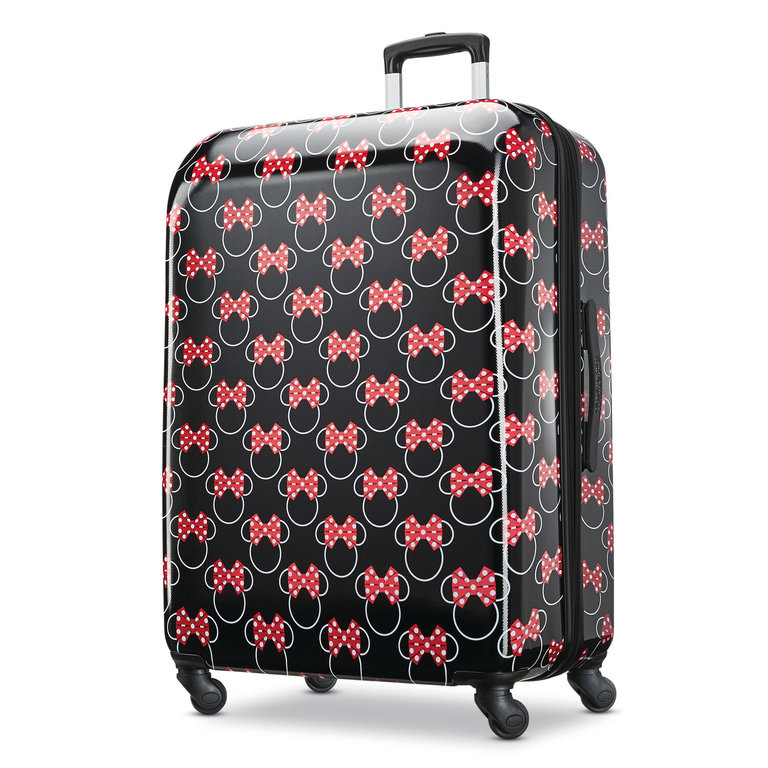 """American Tourister Disney Minnie Bows 28"""" Spinner in the color Minnie Mouse Red Bows."""