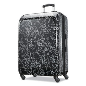 "American Tourister Disney Mickey Scribble 28"" Spinner in the color Mickey Mouse Multi Face."