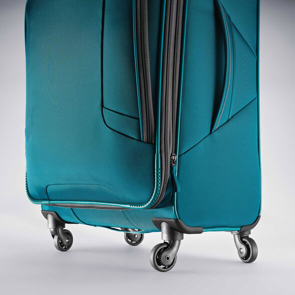 """American Tourister 4 Kix 21"""" Spinner in the color Teal/Grey."""