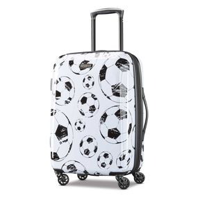 "American Tourister Moonlight 21"" Spinner in the color White/Black."