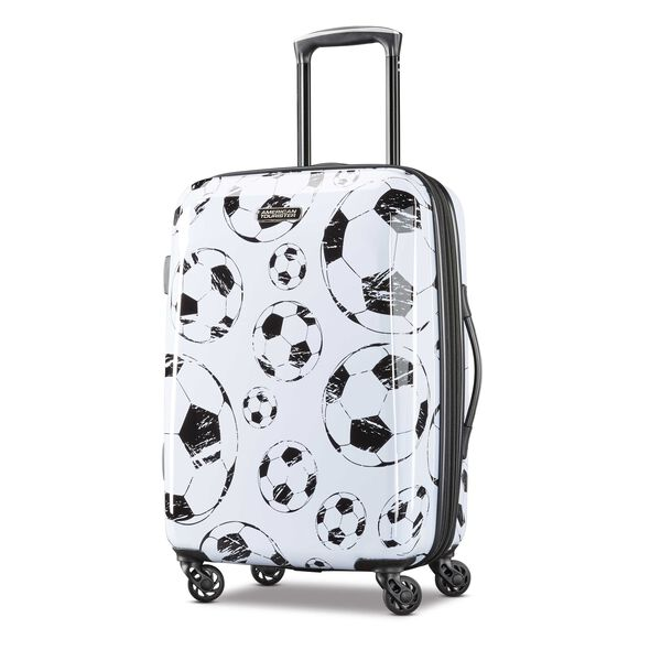 """American Tourister Moonlight 21"""" Spinner in the color White/Black."""