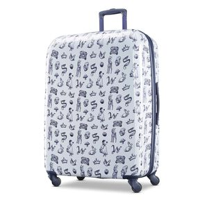 "American Tourister Disney Snow White 28"" Spinner in the color Blue/White."