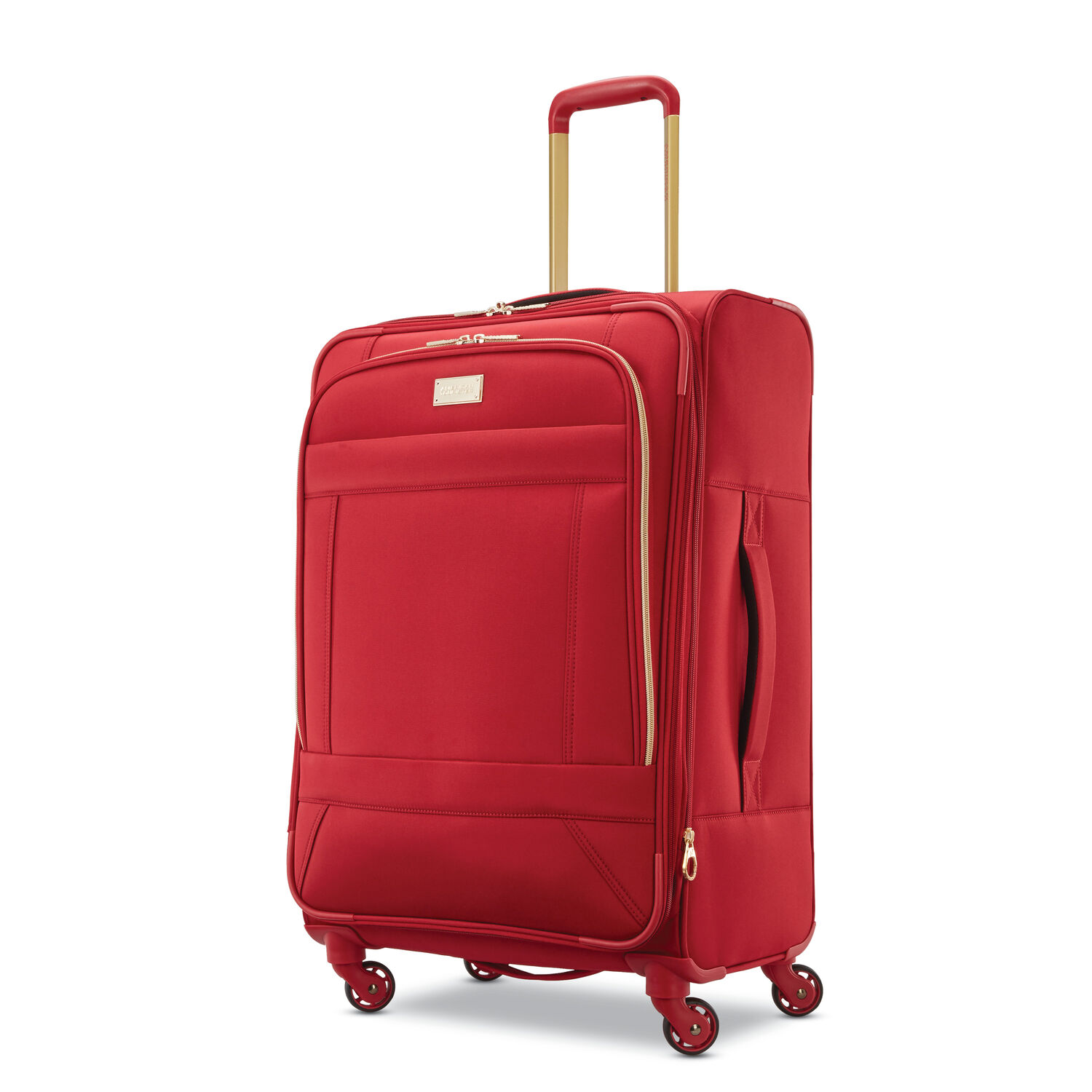 "American Tourister Belle Voyage 25"" Spinner in the color Red."