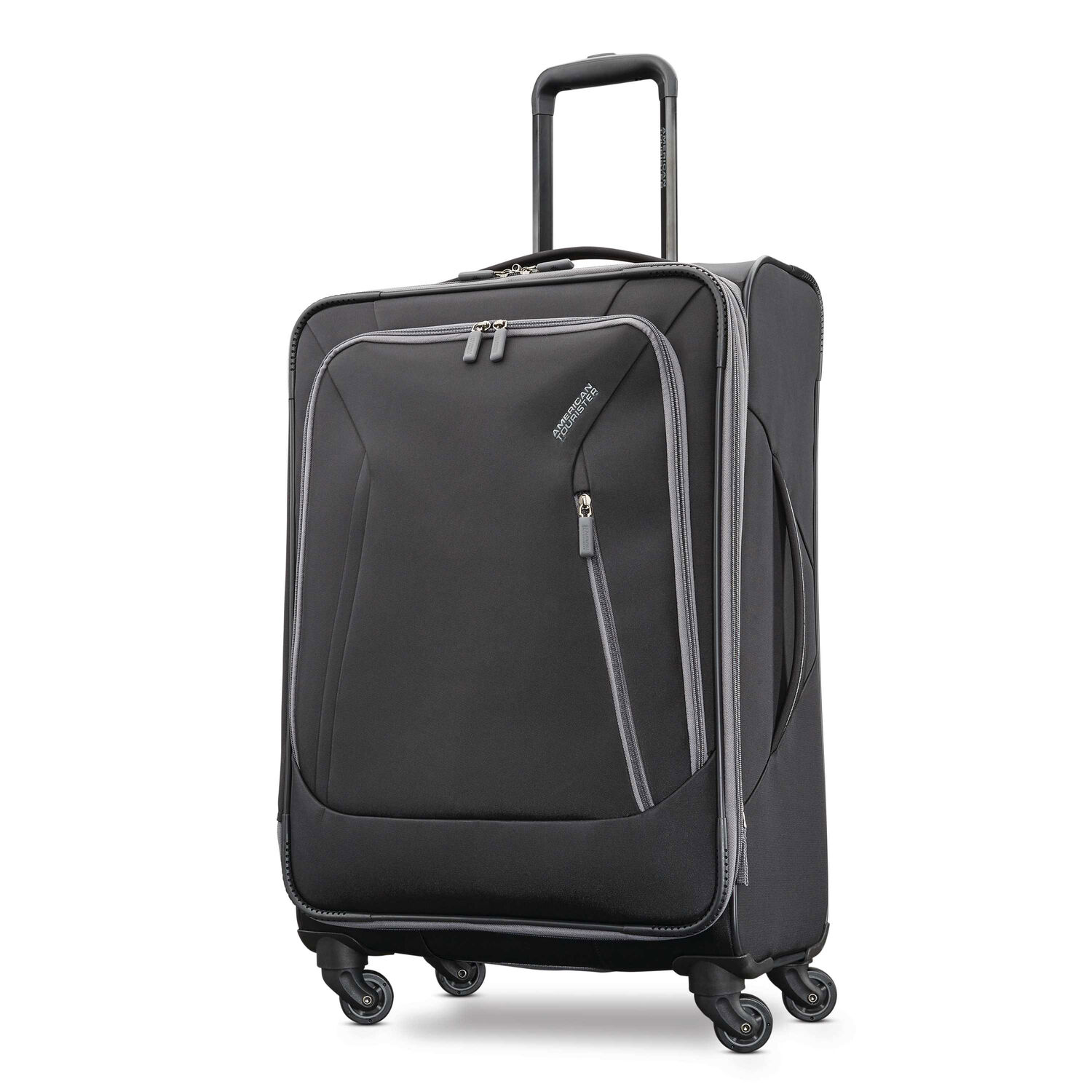 """American Tourister Sonic 25"""" Spinner in the color Black."""