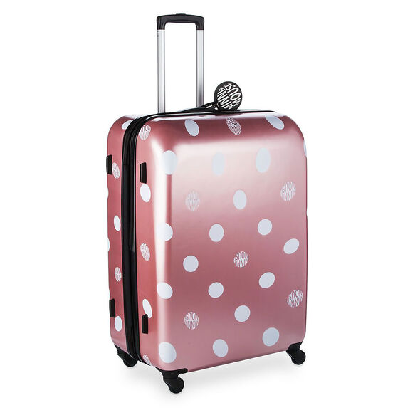 "American Tourister Disney Minnie Lux Dots 28"" Spinner in the color Bronze Print."