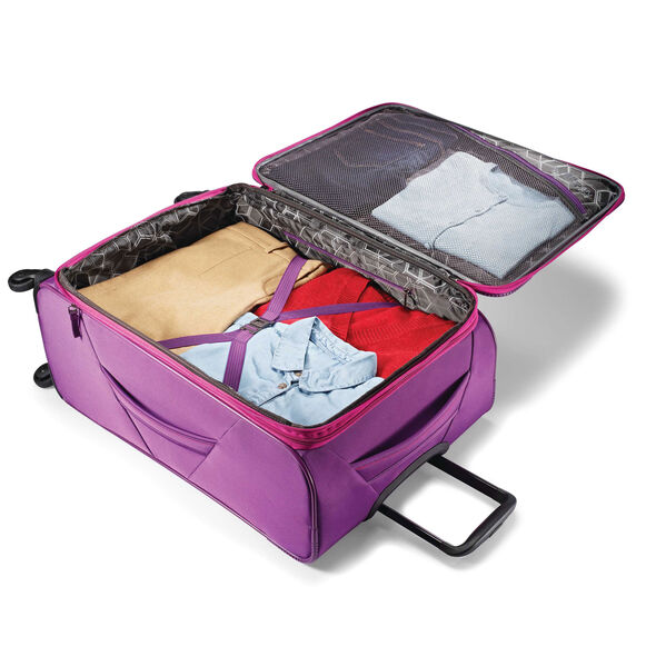 """American Tourister 4 Kix 25"""" Spinner in the color Purple/Pink."""