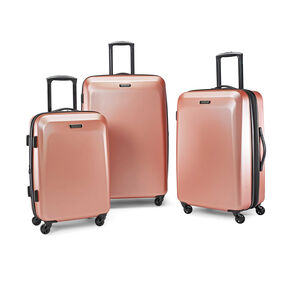 American Tourister Moonlight 3 Piece Set in the color Rose Gold.