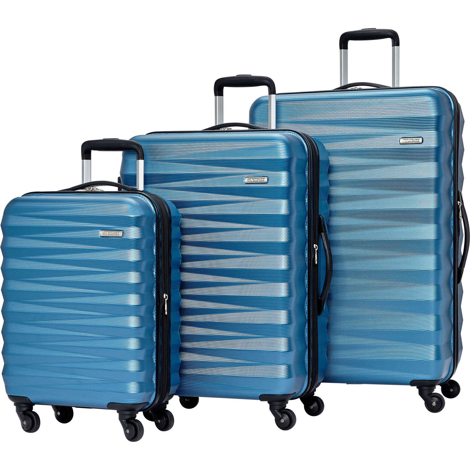 American Tourister Triumph NX 3 Piece Set in the color Periwinkle.