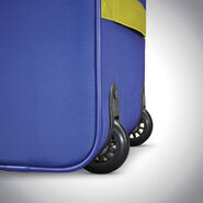 American Tourister Sonic Rolling Tote in the color Blue/Lime.