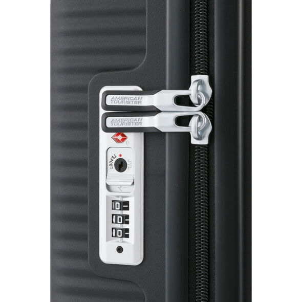 """American Tourister Curio 25"""" Spinner in the color Black."""