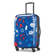 "American Tourister Moonlight 21"" Spinner in the color Red/White/Blue."