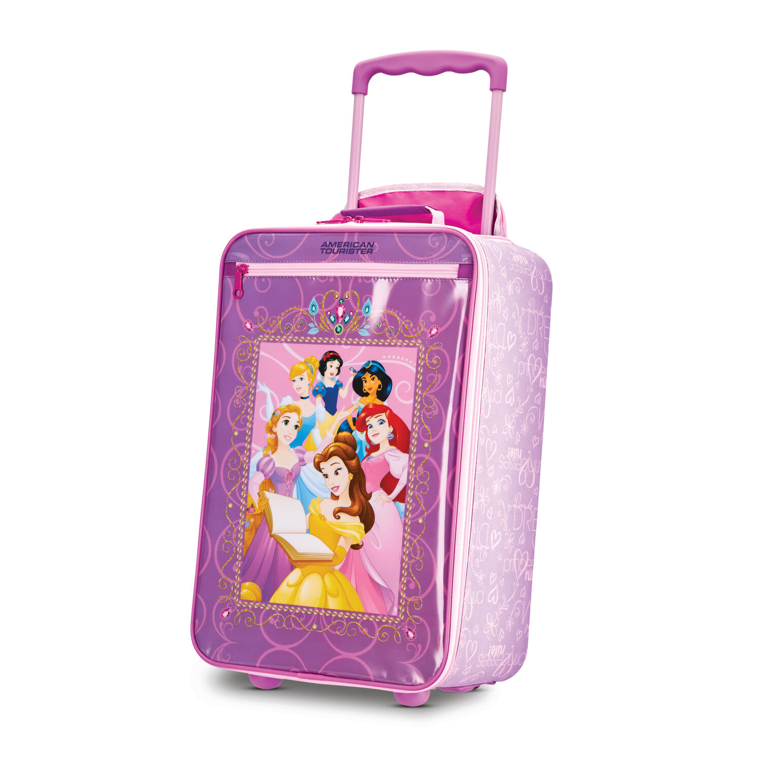 "American Tourister Disney Kids 18"" Softside Upright in the color Princess."