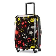 "American Tourister Moonlight 21"" Spinner in the color Red/Yellow."