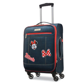 "American Tourister Disney MM Denim Krush 19"" Spinner in the color Dark Denim."