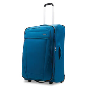 "American Tourister Blast XLT 24"" Upright in the color Aqua Blue."