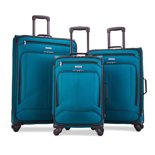 American Tourister Pop Max 3PC Set in the color Teal.