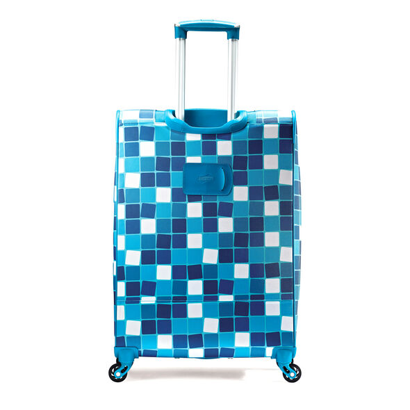 """American Tourister iLite Max 25"""" Spinner in the color Light Blue Squares."""