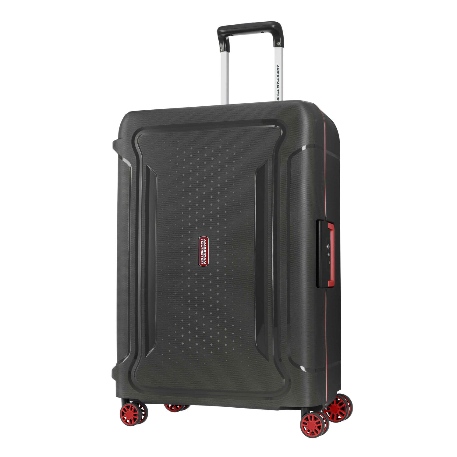 """American Tourister Tribus 25"""" Spinner in the color Black."""