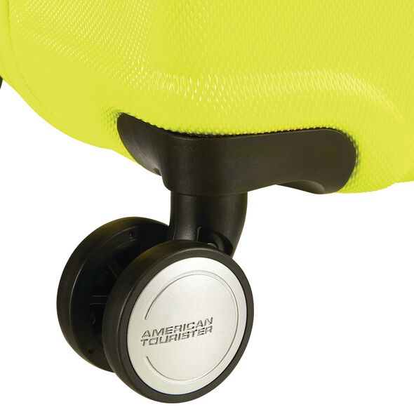 "American Tourister Wavebreaker 20"" Spinner in the color Lime."