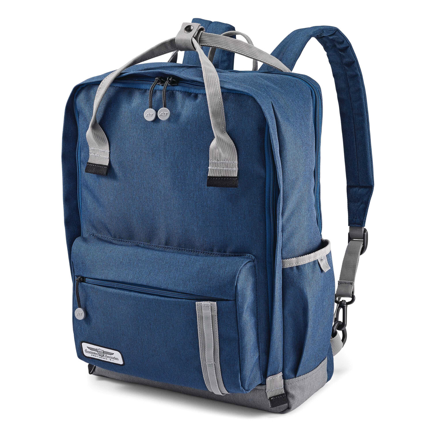 2b7f7065f6 American Tourister Cooper Backpack in the color Navy Grey.