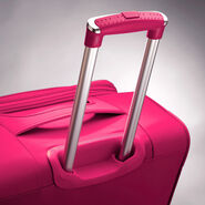 "American Tourister iLite Max 21"" Spinner in the color Raspberry."