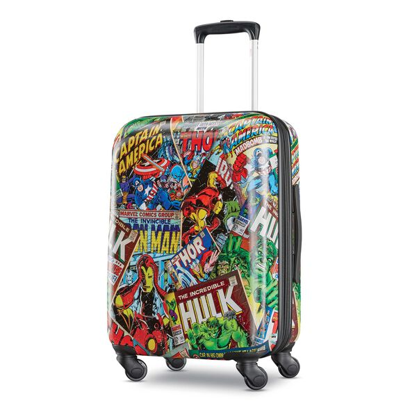 """American Tourister Marvel Comics 21"""" Spinner in the color Comics."""