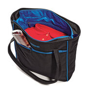 American Tourister Skylite Shopper in the color Black/Blue.