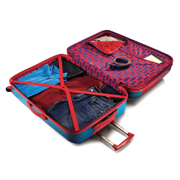 """American Tourister Marvel All Ages 20"""" Spinner in the color Spiderman."""