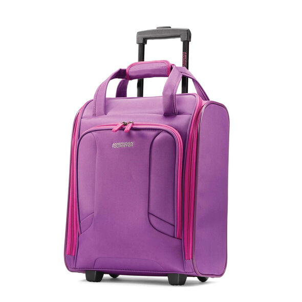 American Tourister 4 Kix Rolling Tote in the color Purple/Pink.
