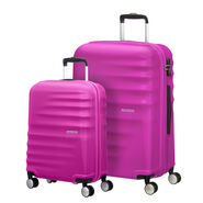 American Tourister Wavebreaker 2 PC Set in the color Hot Lips Pink.