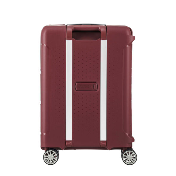 """American Tourister Tribus 20"""" Spinner in the color Red."""
