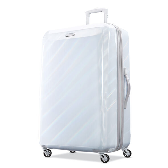 "American Tourister Moonlight 28"" Spinner in the color Iridescent White."