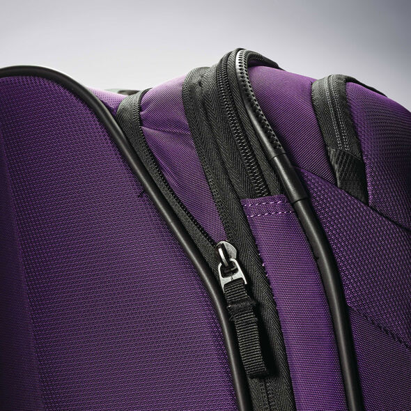 "American Tourister Zoom 25"" Spinner in the color Purple."