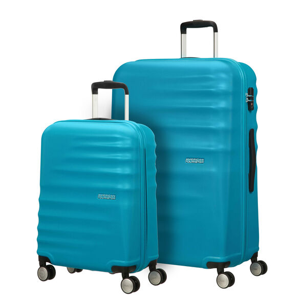 American Tourister Wavebreaker 2 PC Set in the color Summer Sky.