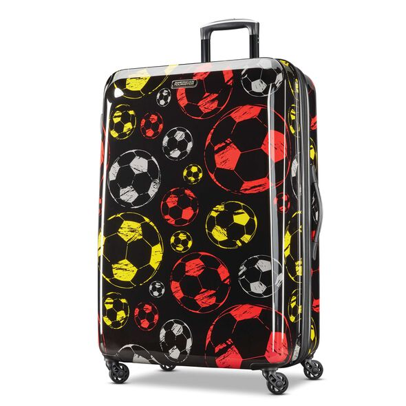 "American Tourister Moonlight 28"" Spinner in the color Red/Yellow."