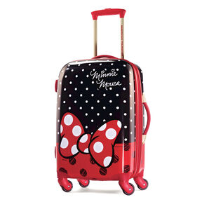 "American Tourister Disney Minnie Mouse 21"" Hardside Spinner in the color Minnie Mouse Red Bow."