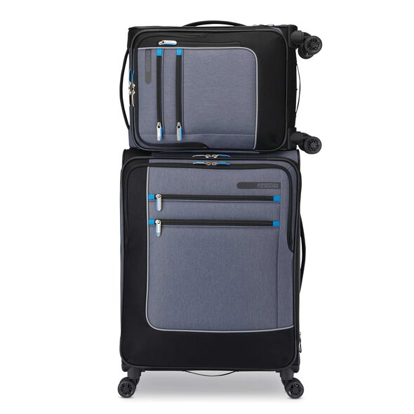 American Tourister iStack 2PC Set in the color Heather Grey/Black.
