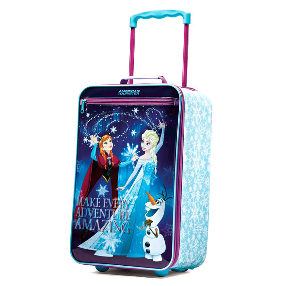 """American Tourister Disney 18"""" Softside Upright in the color Frozen."""