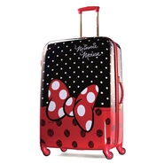 "American Tourister Disney Minnie Mouse 28"" Hardside Spinner in the color Minnie Mouse Red Bow."
