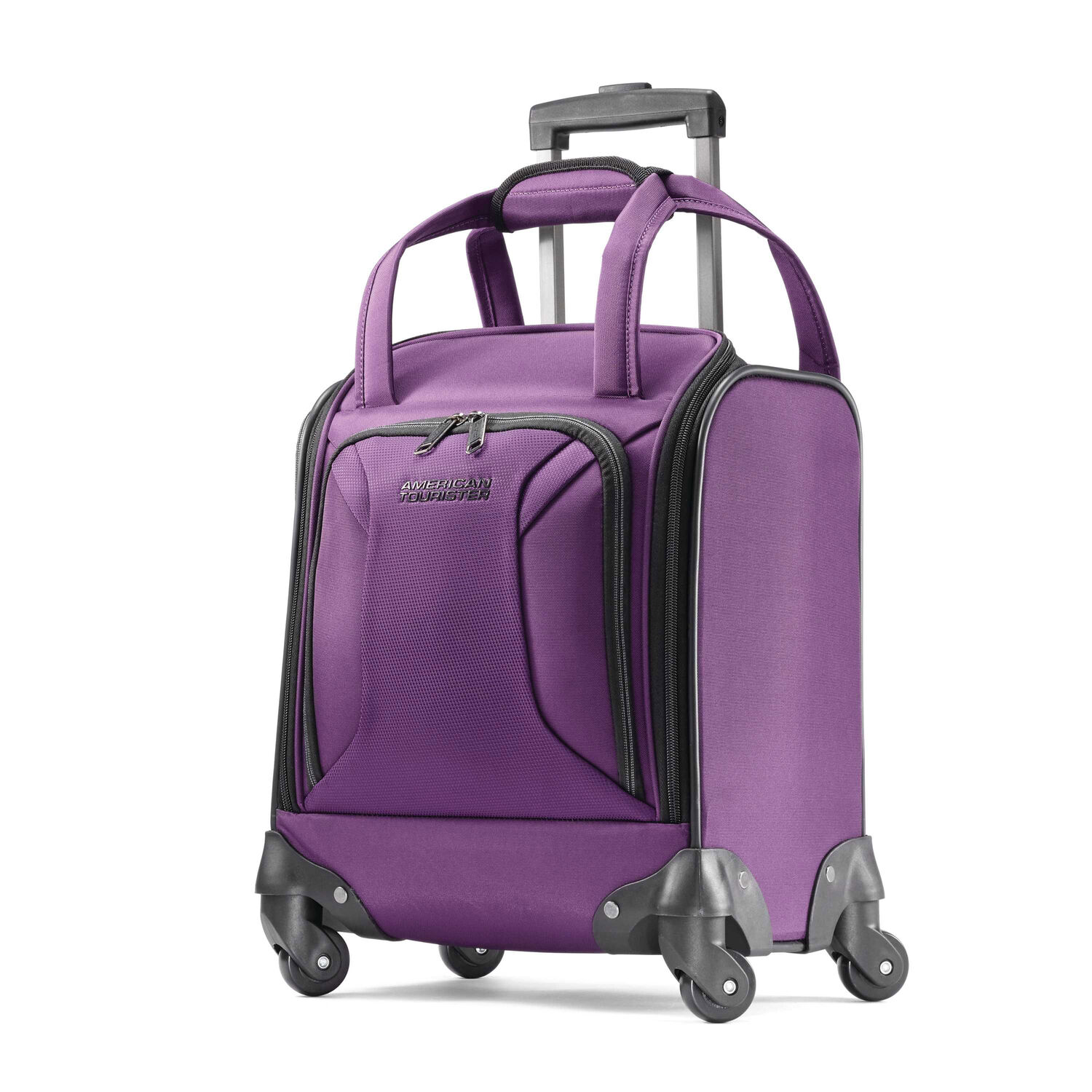 9b38f08e62 American Tourister Zoom Underseater Spinner Tote in the color Purple.