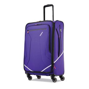 "American Tourister Reflexx 24"" Spinner in the color Fearless Purple."