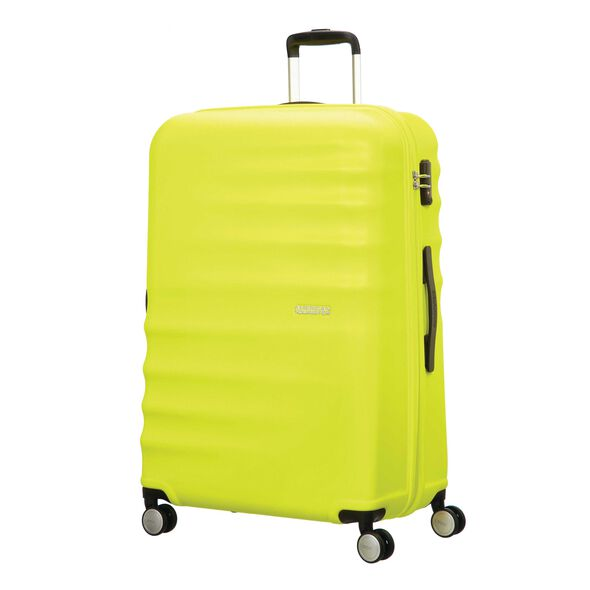 "American Tourister Wavebreaker 28"" Spinner in the color Lime."