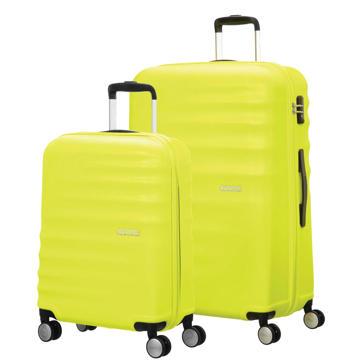 a524c7cf21 American Tourister Wavebreaker 2 PC Set in the color Lime.