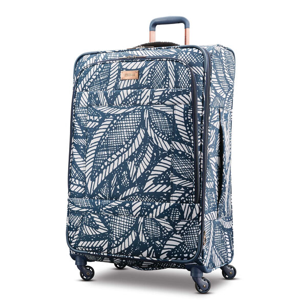 "American Tourister Belle Voyage 28"" Spinner in the color Burst Floral Indigo Sand."