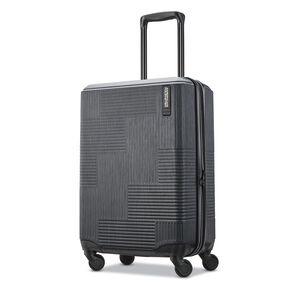 "American Tourister Stratum XLT 20"" Spinner in the color Jet Black."