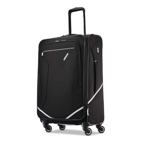 "American Tourister Reflexx 24"" Spinner in the color Black/White."