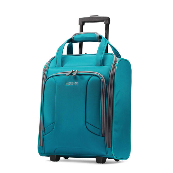 American Tourister 4 Kix Rolling Tote in the color Teal/Grey.