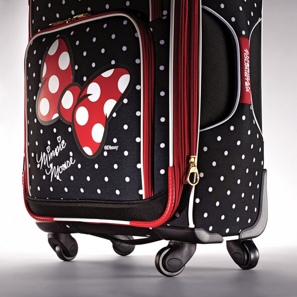 "American Tourister Disney Minnie Mouse 21"" Spinner in the color Minnie Mouse Red Bow."