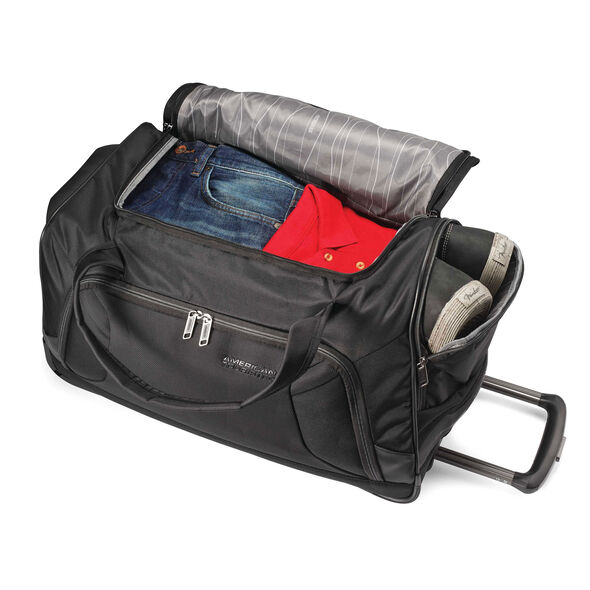 """American Tourister Zoom 22"""" Wheeled Duffel in the color Black."""
