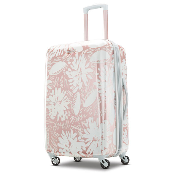 "American Tourister Moonlight 24"" Spinner in the color Ascending Gardens Rose Gold."